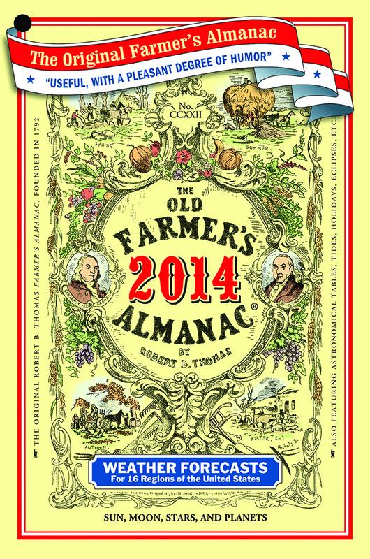 Old farmers almanac 2014 wild things grow for Farmers fishing almanac